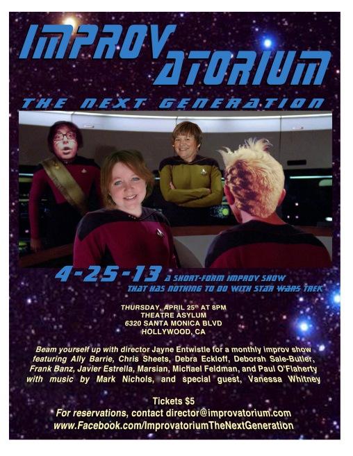 Improvatorium - The Next Generation, April 25th, 2013, poster design: Marsian De Lellis