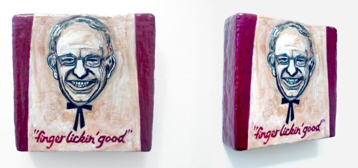 Bernie Sanders is Finger Lickin Good, ©2015, Marsian De Lellis